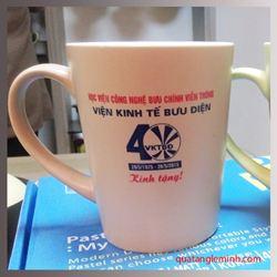Cốc sứ Hàn Quốc Pastel Mug Cup MC In Viện Kinh Tế Bưu Điện