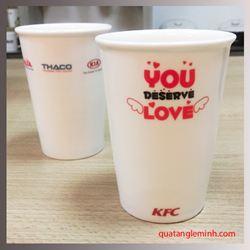 Cốc sứ Hàn Quốc Eco Cup - in logo KFC
