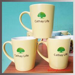 Cốc sứ Hàn Quốc Pastel Mug Cup MC In Logo Cathay Life