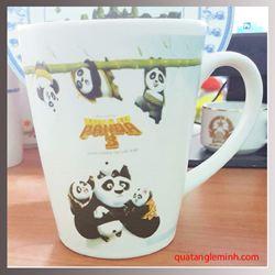 Cốc sứ Hàn Quốc Pastel Mug Cup MC In Kungfu Panda