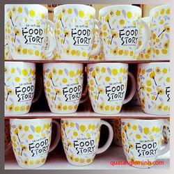 Cốc sứ Hàn Quốc Pastel Mug Cup  AC in logo Food Story
