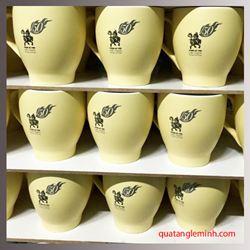 Cốc sứ Hàn Quốc Pastel Mug Cup  In logo 50 năm