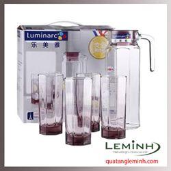 Bộ Bình Ly Thủy Tinh Luminarc 5 Món Octime Pink J5242