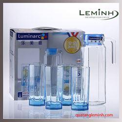 Bộ Bình LyThủy Tinh Luminarc 5 Món Octime Ice Blue J5263