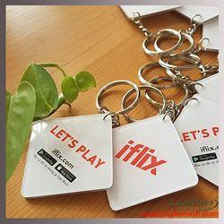 Móc khóa nhựa mica cứng - Iflix