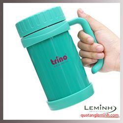 Bình giữ nhiệt Trino có tay cầm 500ml - Màu xanh lá