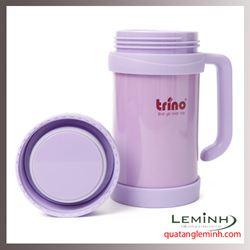 Bình giữ nhiệt Trino có tay cầm 500ml - Màu tím