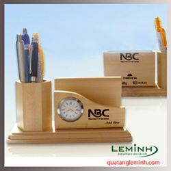 Đồng hồ khay cài card, ống cắm bút