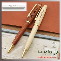 Bút ký gỗ nắp xoay - 001