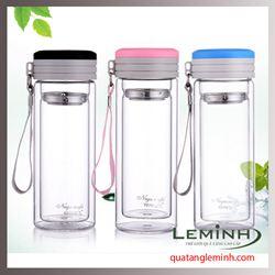 Cốc giữ nhiệt thủy tinh cao cấp Glass Cup - LMCGN003