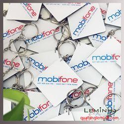 Móc khóa nhựa mica cứng - Mobifone