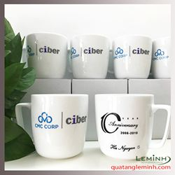 Ca sứ Minh Long in logo - CMC Ciber
