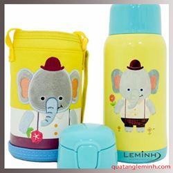 Bình giữ nhiệt Cartoon Kids Lock&Lock 550ml – Voi