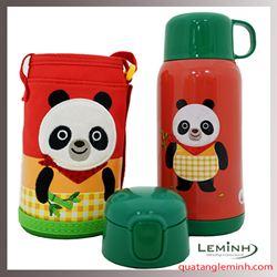 Bình giữ nhiệt Cartoon Kisd Lock&Lock 550ml – Gấu Panda