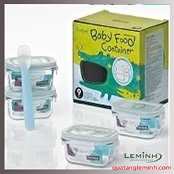 Bộ Baby Food Contoiner Glasslock 633