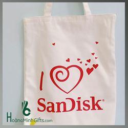 Túi Vải Bố Xách Tay Thời Trang - KH Sandisk