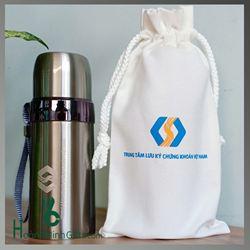 Bình Giữ Nhiệt Khắc Logo - Kh TT Lưu Ký Chứng Khoán VN