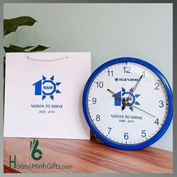 Đồng Hồ Treo Tường Cao Cấp In Logo- KH Nasun