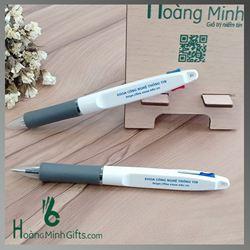 Bút Bi Nhựa 2 Màu In Logo - Kh HV Nông Nghiệp