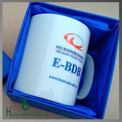 Ly Sứ Bát Tràng In Logo - KH Neu Business School