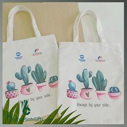 Túi Vải Bố Xách Tay Thời Trang - Kh Woori Bank