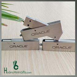 USB Kim Loại Xoay Khắc Logo - KH Oracle Việt Nam