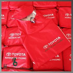 Áo Mưa Quảng Cáo Siêu Nhẹ In Logo - KH Toyota Nankai Hải Phòng