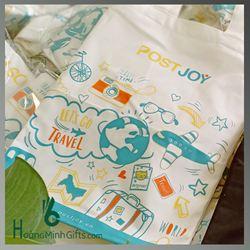 Túi Vải Bố Xách Tay Thời Trang - Kh Post Joy
