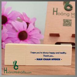 Bộ Usb Gỗ Quà Tặng In Logo - KH Han Chan Hyuck