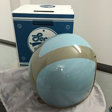 Scoot 3/4 Classic Helmet - Boran Boran (Baby Blue)