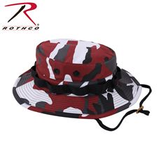 Rothco Camo Poly/Cotton Boonie Hat (Red Camo)