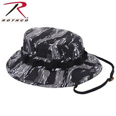 Rothco Camo Poly/Cotton Boonie Hat (Urban Tiger Stripe Camo)