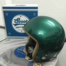 Scoot 3/4 Classic Helmet - Vintage Racer (Metallic Green)