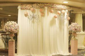 Backdrop lụa hoa cưới