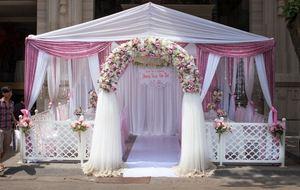 Nhà bạt cưới hỏi tông hồng trắng