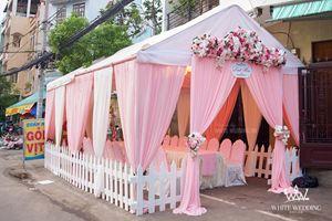 Nhà bạt cưới hỏi tông hồng pastel