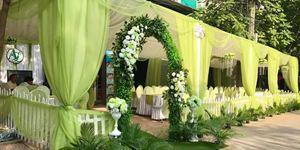 Nhà bạt cưới hỏi tông xanh ngọc