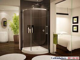 Phòng tắm kính cong