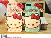 Ốp lưng Silicon Hello Kitty iPhone 4/4S - 5/5S - 6/6plus