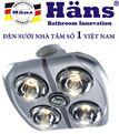 Đèn sưởi nhà tắm Hans 4 bóng Âm Trần H4B