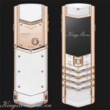 Vertu Signature White Red Gold Diamond