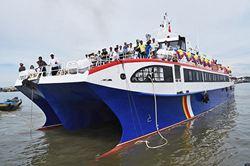 Hãng tàu Phú Quý Express Khai trương tàu cao tốc hai thân tuyến Phan Thiết - đảo Phú Quý