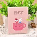 Sổ mini Milk Tea bìa nhựa trong S0497 80g