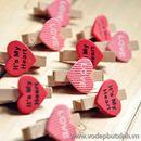 Bộ kẹp gỗ 10 chiếc hình tim K1555 25g