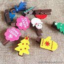 Bộ kẹp gỗ 12 chiếc Merry Christmas K1551 40g
