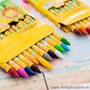 Bộ bút sáp màu hoa mặt trời 12 màu B0555 60g