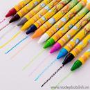 Bộ bút sáp màu hoa mặt trời 24 màu B0556 120g