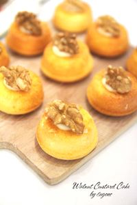 Walnut Custard Ring Cake