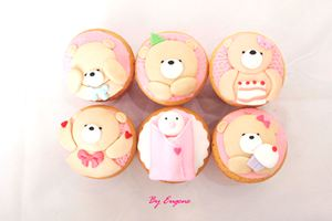 Cupcake gấu bông