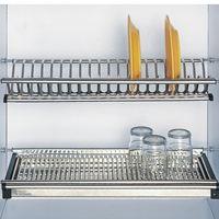 Giá bát đĩa  inox dẹt trên cao EU.01090 - Phụ kiện tủ bếp EUROGOLD